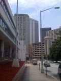 Downtown Sidewalk Atlanta. Image of a sidewalk in downtown Atlanta. Close to Georgia State University Stock Photography