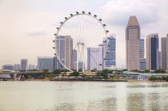 Downtown Singapore as seen from the Marina Bay Stock Photography