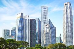 Downtown Singapore. Royalty Free Stock Images