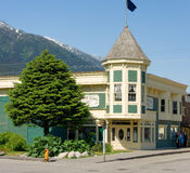 Downtown skagway in the springtime Stock Image