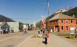Downtown skagway in the springtime Royalty Free Stock Photos