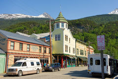 Downtown skagway in the springtime Royalty Free Stock Images