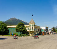 Downtown skagway in the springtime Stock Images
