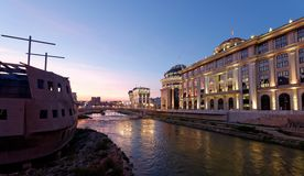 Downtown of the Skopje, Macedonia. Royalty Free Stock Image