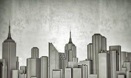 Downtown skyline Stock Photo