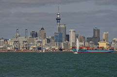 Downtown Skyline - Auckland NZ. Downtown Auckland's Skyline New Zealand Royalty Free Stock Photos