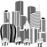 Downtown skyline Stock Image