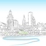 Downtown Skyline of Chicago. An image of a downtown skyline of chicago vector illustration