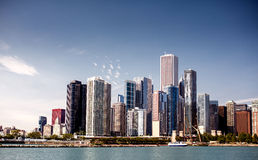 Downtown skyline Chicago Stock Image