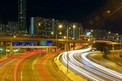 Downtown skyline at night. Hong kong Royalty Free Stock Photography