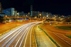 Downtown skyline at night. Hong kong city Royalty Free Stock Photos
