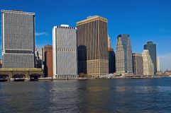 Downtown Skyline NYC Royalty Free Stock Photos