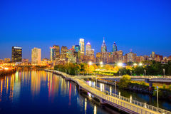 Downtown Skyline of Philadelphia Stock Photography