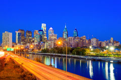 Downtown Skyline of Philadelphia Royalty Free Stock Photography