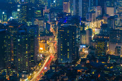 Downtown skyline of Seoul, South Korea Royalty Free Stock Image
