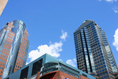 Downtown skyscrapers in Montreal, Canada Stock Photography