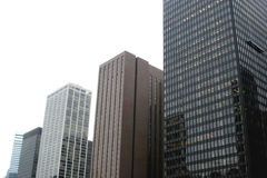 Downtown skyscrapers - urban tall buildings Royalty Free Stock Photo