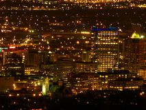 Downtown SLC. A telephoto view of downtown Salt Lake City Royalty Free Stock Photos