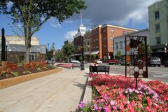 Downtown Small Town royalty free stock photos