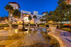 Downtown St. Augustine at Night royalty free stock image