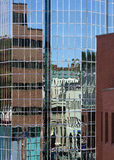 Glass Building Reflections, St. John's, Newfoundland, Canada Royalty Free Stock Image