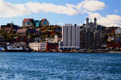 Downtown St. John's Skyline, Newfoundland. Stock Photo