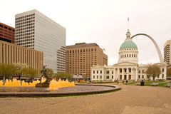 Downtown St. Louis Stock Photo