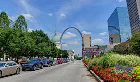 Downtown St. Louis, Missouri. With the Gateway Arch royalty free stock images