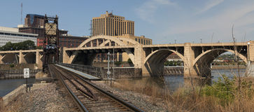 Downtown St. Paul and Bridges Royalty Free Stock Photo