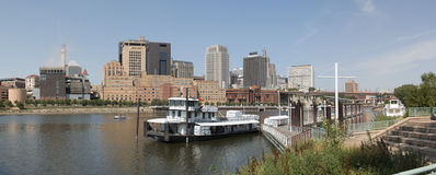 Downtown St. Paul and the Mississippi River Royalty Free Stock Photography