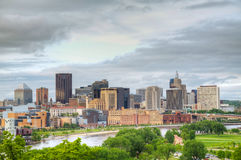 Downtown St. Paul, MN. And Mississippi river Royalty Free Stock Image