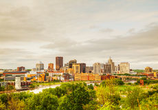 Downtown St. Paul, MN. And Mississippi river Stock Image