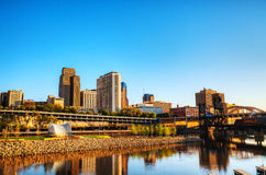 Downtown of St. Paul, MN. Early in the morning Royalty Free Stock Image