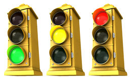 Downtown Stoplight 3 Pack Royalty Free Stock Image