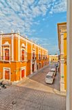 Downtown street in Campeche, Mexico Royalty Free Stock Images