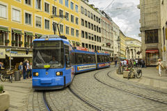 Downtown street in Munich, Germany Stock Images