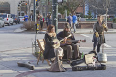 Downtown Street Music Stock Photography