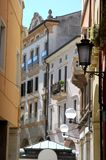 Downtown street in Padua in the Veneto (Italy) Stock Images