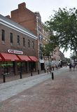 Salem, MA, 1st June: Downtown Street from Salem in Essex county Massachusettes state of USA stock photography