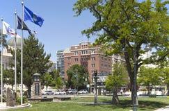 Downtown street scene, Reno Nevada. Royalty Free Stock Photos