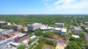 Downtown Tallahassee Florida stock aerial video stock footage