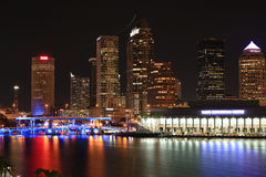 Downtown Tampa, Florida at Night Stock Photos
