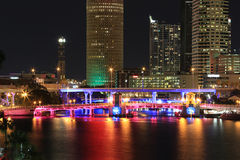 Downtown Tampa, Florida at Night Royalty Free Stock Image