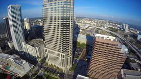 Downtown Tampa Florida aerial 4k video stock video