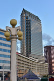 Downtown Tampa Florida. Regions and Wells Fargo Bank in Downtown Tampa Florida in daytime royalty free stock image