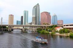 Downtown Tampa Florida. Downtown skyscraper Tampa Florida USA Royalty Free Stock Photo