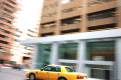 Downtown Taxi Cab Royalty Free Stock Photo