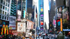 Downtown Times Square New York. Busy street in downtown TimesSquare, New York royalty free stock photo