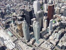 Downtown Toronto. The downtown Toronto core seen from just above Union Station on Front Street royalty free stock image