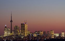 Downtown toronto. Night view of downtown toronto Royalty Free Stock Images